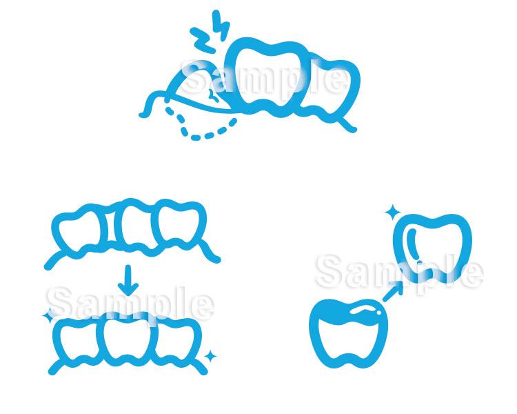 歯科クリニックWebサイト用アイコン8点